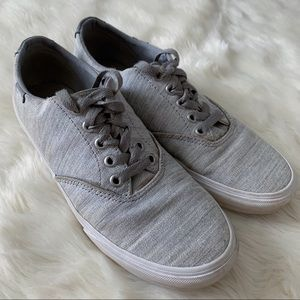 Vans Low Top Heather Gray Sneakers Shoes Womens 8